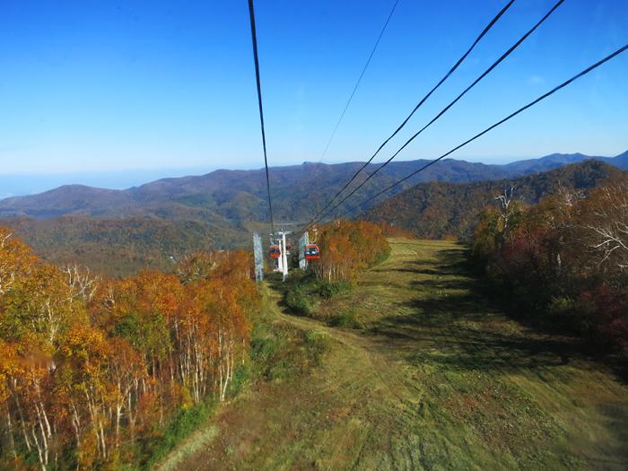 札幌国際スキー場 紅葉ゴンドラ 風景