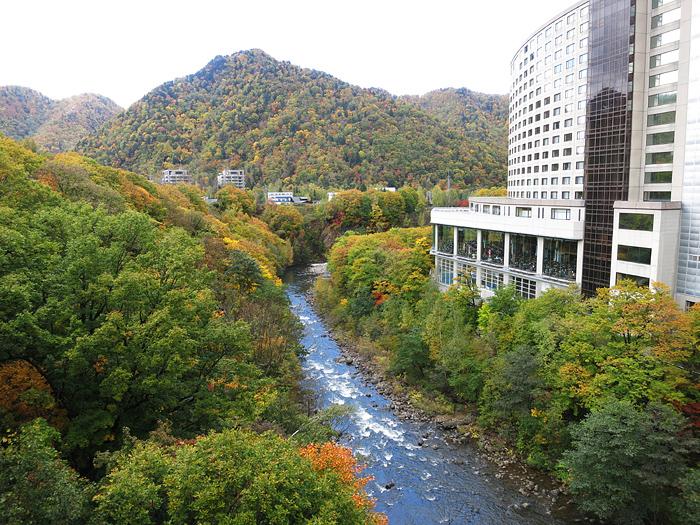 定山渓 定山渓大橋から 紅葉