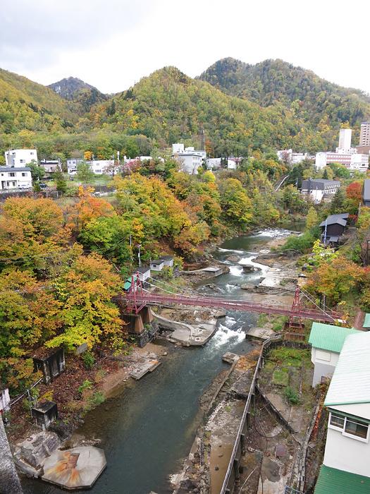 定山渓 定山渓大橋 紅葉