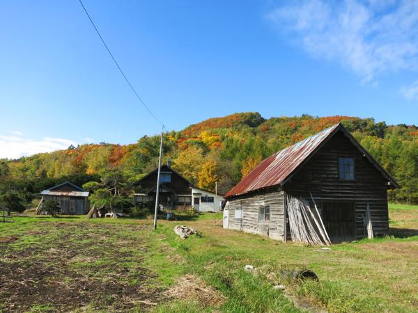 穴の川 ハーブの小径 紅葉 小屋