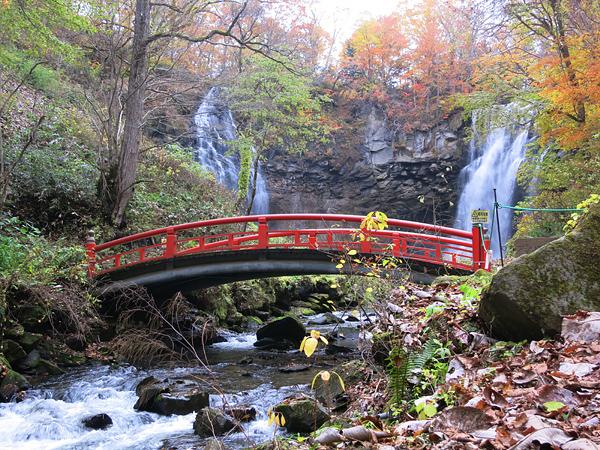 すずらん丘陵公園 紅葉 アシリベツの滝
