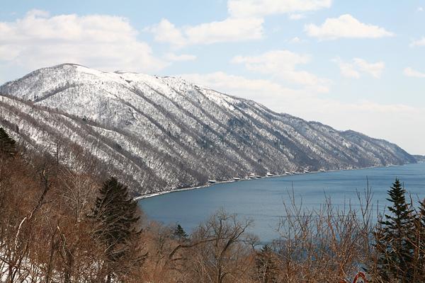 支笏湖 展望台 紋別岳