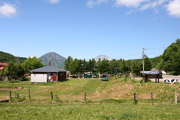 喜茂別 牧場と羊蹄山