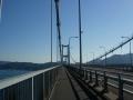150920来島海峡大橋を進む