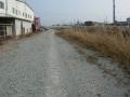 160227富雄川沿いの自転車道に一部未舗装区間あり