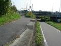 131116久世橋を渡り、自転車道へ