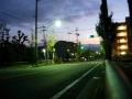 131130山陰街道樫原の緩勾配で夜明け前