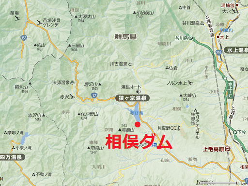 相俣ダム地図