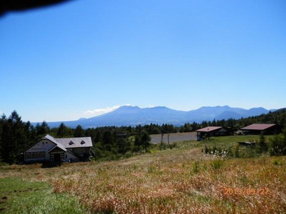 ゲレンデよりの浅間山