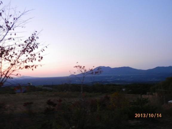 バラギ高原の朝焼け&浅間山