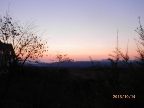 バラギ高原の朝焼け