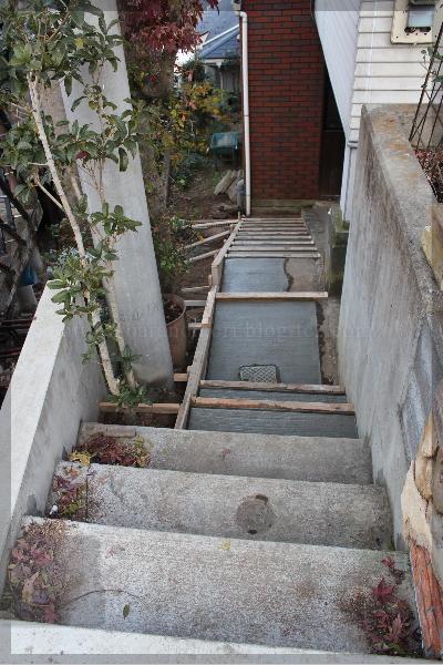 裏庭 階段 20131203