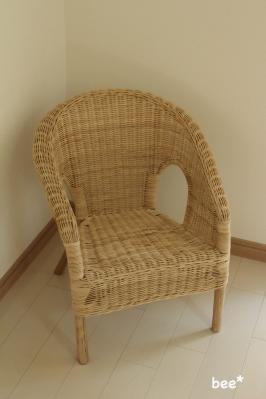 IKEAの藤椅子