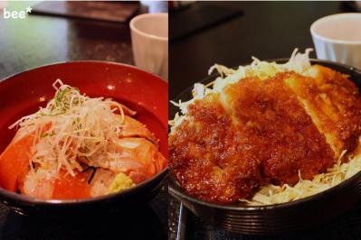 信州サーモンとカツ丼