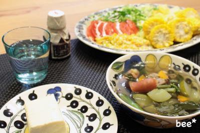 ラー油とスープ.