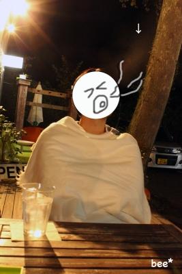 10月の軽井沢、夜に外で息を吐くと白かった。
