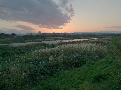 夕闇迫る多摩川2