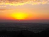 八王子城山からの朝焼け