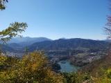 津久井湖と富士山