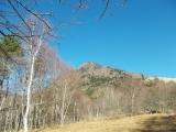 乾徳山の頂上へ
