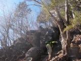 乾徳山の岩場1
