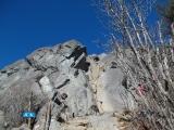 乾徳山の岩場3