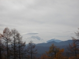 笠雲のかかった富士山