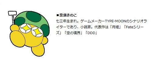 奈須きのこプロフ