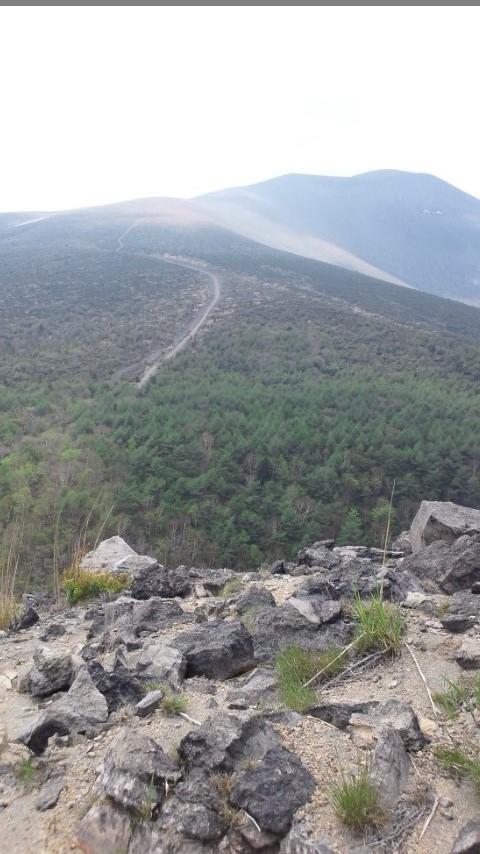 小浅間山(西峰より)浅間山を望む