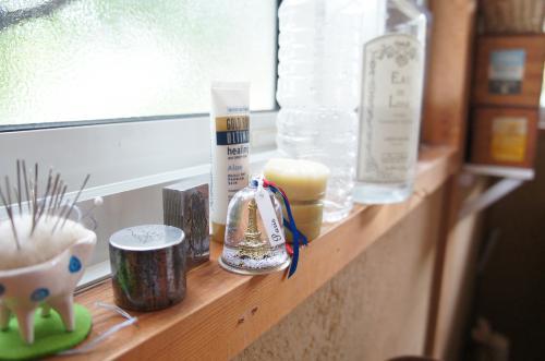 作業部屋の癒しと道具