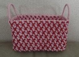 花結び編みのカゴ