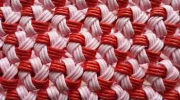 花結び編みのカゴ3