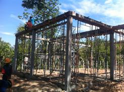 トロパントム小学校図書館建設3-1