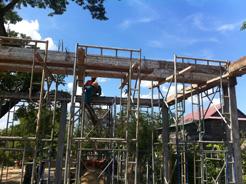 トロパントム小学校図書館建設3-3