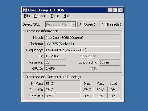 CPUの温度
