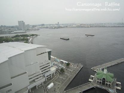横浜インターコンチネンタル 部屋からの眺望