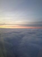 イギリス上空の夕焼け