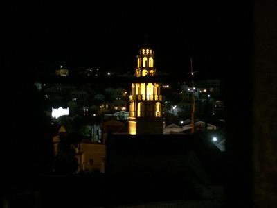 テラスから夜景