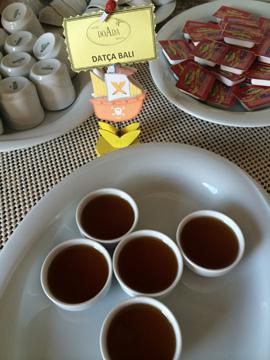 ホテルの朝食蜂蜜