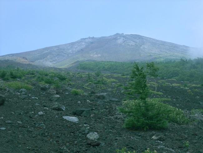 富士山頂を望む
