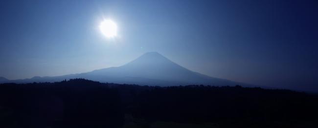 富士山朝の風景