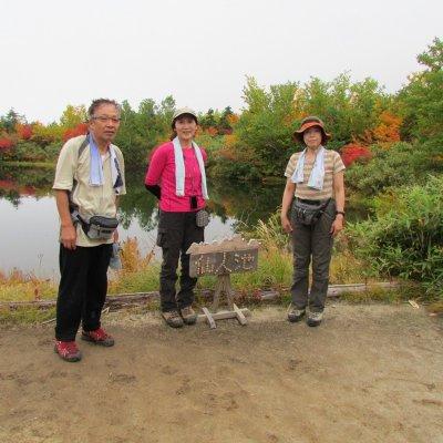 127仙人池で記念写真