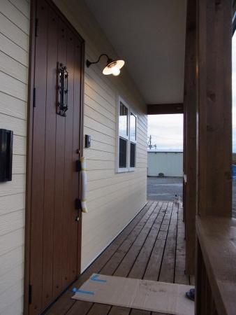 苫小牧 2×4 玄関前デッキ
