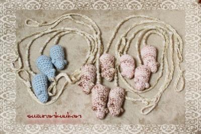 おもちゃのネズミ付きミサンガ 10個