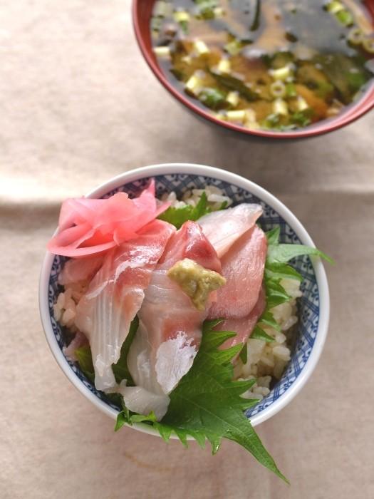 刺身の残り寿司