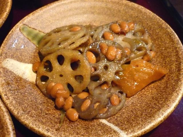 蓮根と納豆の炒め煮