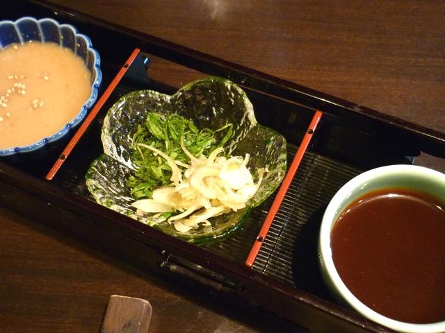 胡麻ダレと酢味噌