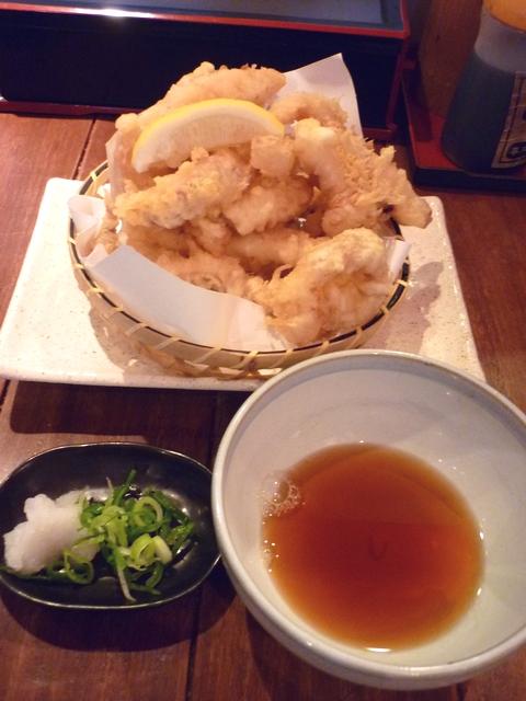 スルメイカの天ぷら