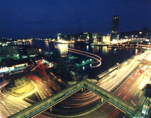 基隆港夜色