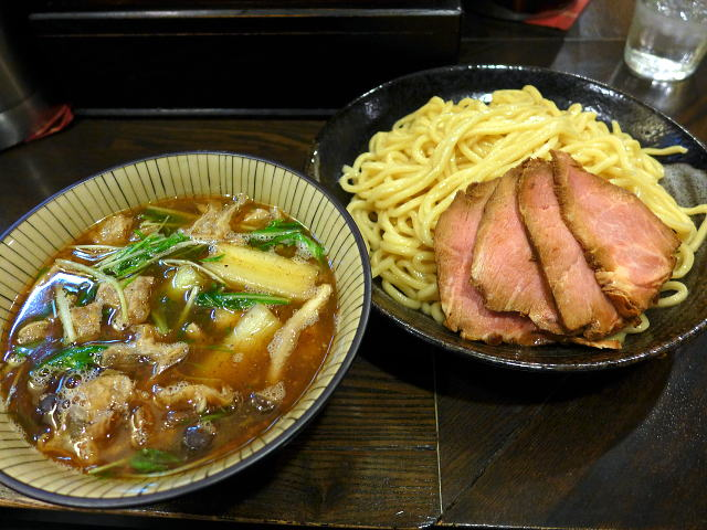 自己流ラーメン 綿麺@70焼きネギと油かすのつけ麺(大)(綿金ナイト) その2 1